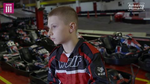 The teen go-kart champ who refuses to let disability stop him