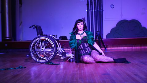 The burlesque star helping 'disabilibabes' just like her