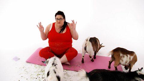 Truth or Mare: Goats make yoga more fun