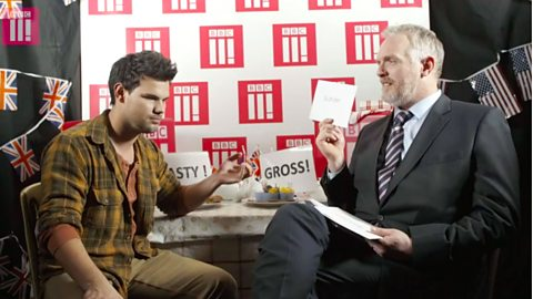 Cuckoo's Taylor Lautner tries to pronounce British place names