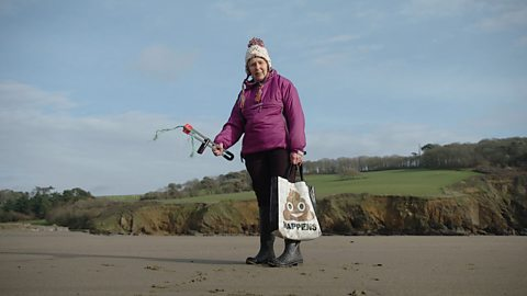 The 'Action Nan' fighting plastic pollution on Cornwall's beaches