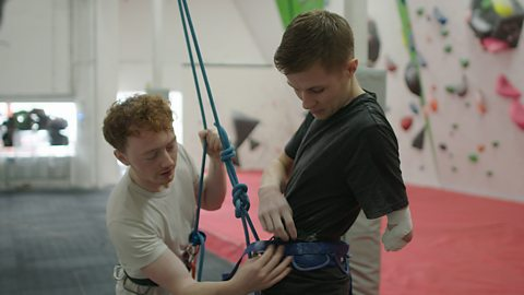 The climbers who don't let disability stop them sharing their love of sport
