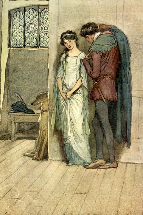 The Merry Wives of Windsor illustration by Hugh Thomson 1910