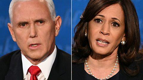 Mike Pence and Kamala Harris spar in vice-presidential debate