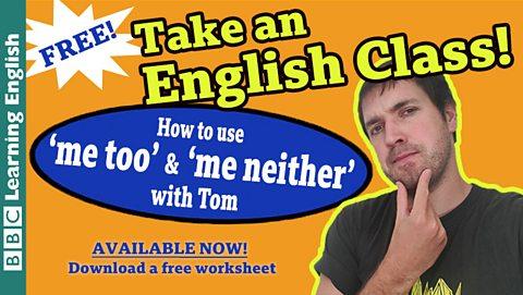 Take an English class: Agreeing and disagreeing
