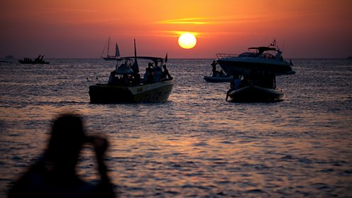 The sun goes down on another glorious day in Ibiza!