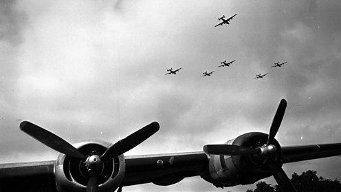 Liberator bombers departing England to bomb German targets