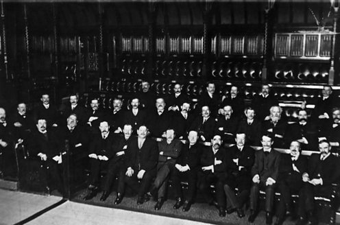 Ramsay MacDonald's first Labour government of 1922. Hulton Getty