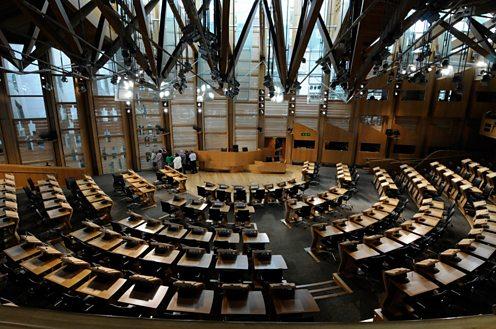 Inside the Scottish Parliament