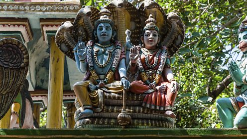 Statues of Shiva and Parvati from a Temple in Tamil Nadu