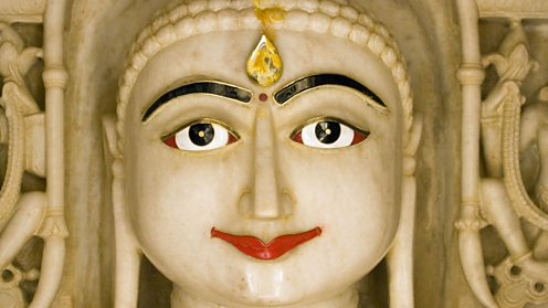 Marble statue of Mahavira in a Jain Temple, Rajasthan India