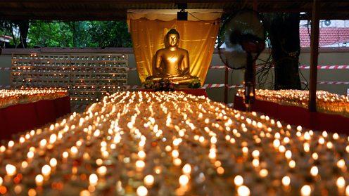 Buddha statue during Vesak in Kuala Lumpur, Malaysia