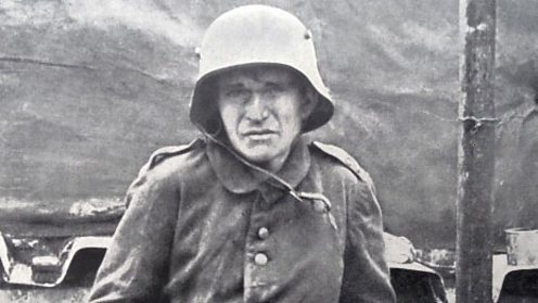 A dejected German soldier at the end of WW1