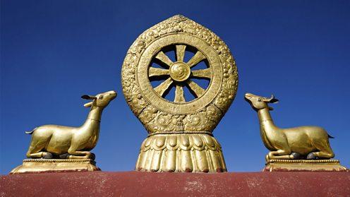 Dharma Wheel in Lhasa Tibet