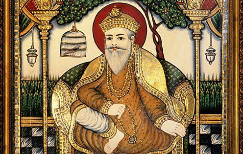 Portrait of Guru Nanak, Khushwant Singh's residence, Kasauli, Himachal Pradesh, India.