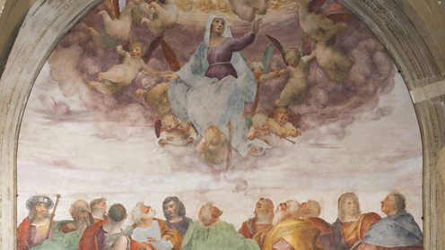 The Assumption of the Blessed Virgin Mary. Artist: Rosso Fiorentino (1495-1540)