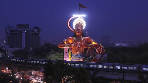 Hanuman statue in New Delhi