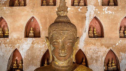 Buddhist statues in Wat Saket, Vientiane, Laos