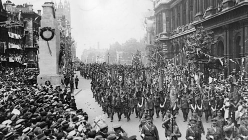 The Cenotah in Whitehall, London, July 1919