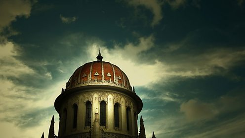 The Dome of the Shrine of the Báb in Haifa, Israel