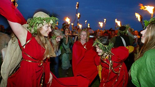 Celebrating Summer Solstice at Stonehenge, Wiltshire