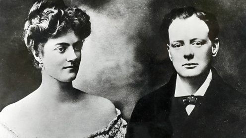 Winston Churchill with Clementine Hozier a week before their wedding