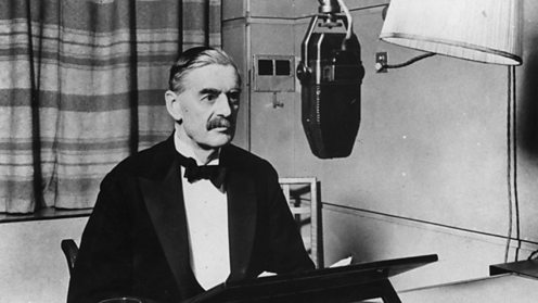 Neville Chamberlain announces that Britain is at war