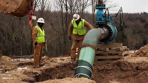 Fracking in process in the USA. Spencer Platt