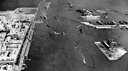 The Suez Canal, 1956. Popperfoto image