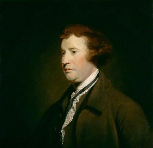 Painting of Edmund Burke reproduced from an original by Joshua Reynolds