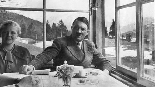 Adolf Hitler with Eva Braun, seven years before they committed suicide in his bunker