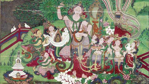 Birth of the Buddha - Tibetan painting