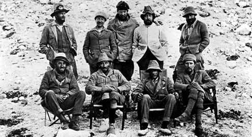 Group portrait of expedition to climb Mt. Everest 1924