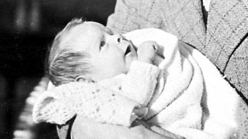 Stephen Hawking as a baby