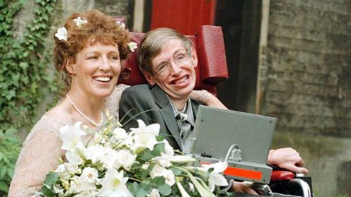 Stephen Hawking and wife Elaine