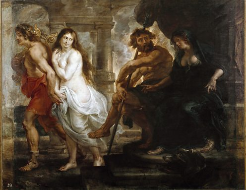 he Greek myth of Orpheus and Eurydice as painted by Peter Paul Rubens.Getty 112189911