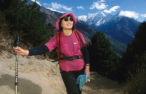 Junko Tabei, the first woman up Everest. Corbis-DWF15-323953