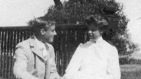 Franklin D. Roosevelt with future wife Eleanor Roosevelt