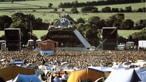 The Pyramid Stage at Glastonbury 1994