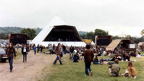 A view of the Pyramid Stage at Glastonbury 1981. Pic: Steve Bayfield