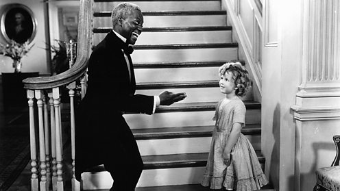 Bill Robinson and Shirley Temple in The Littlest Rebel