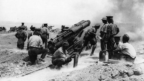 gallipoli artillery being fired