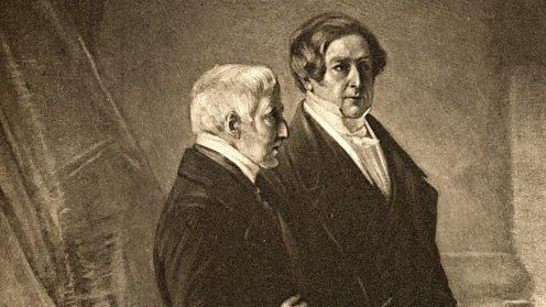 Duke of Wellington in conversation with Robert Peel