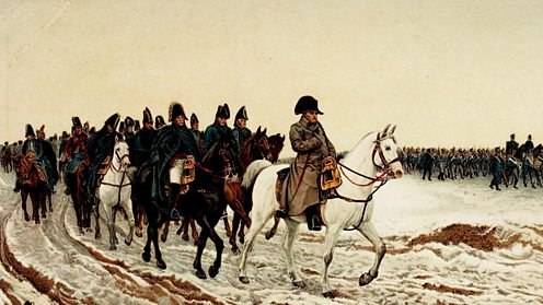 Napoleon retreats from Russia