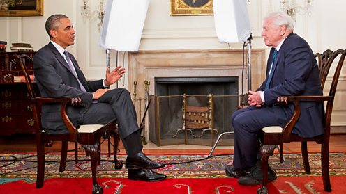 David Attenborough talks to President Obama about issues facing the natural world today.