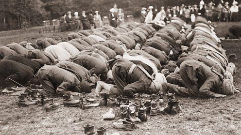 Praying Woking Mosque