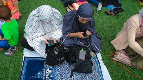 Muslim women smart phone