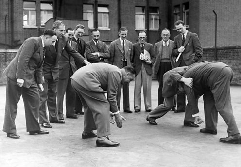 14th September 1949, London, London Society of Rugby Referee's course