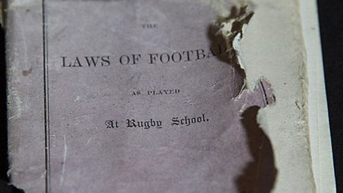 Rugby School artefact the original laws of football