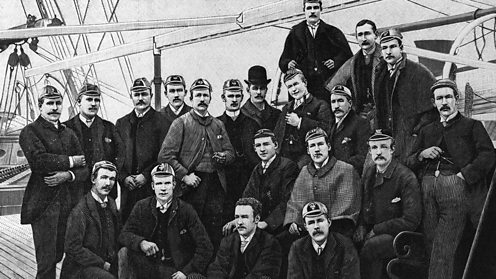 First England rugby team to go on tour 1888